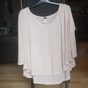 Free people oversized fit scoop neck top